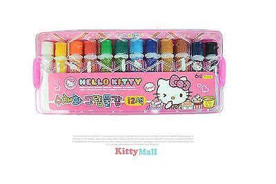 Hello Kitty Water Paint 12 Colors for Kids Made in Korea