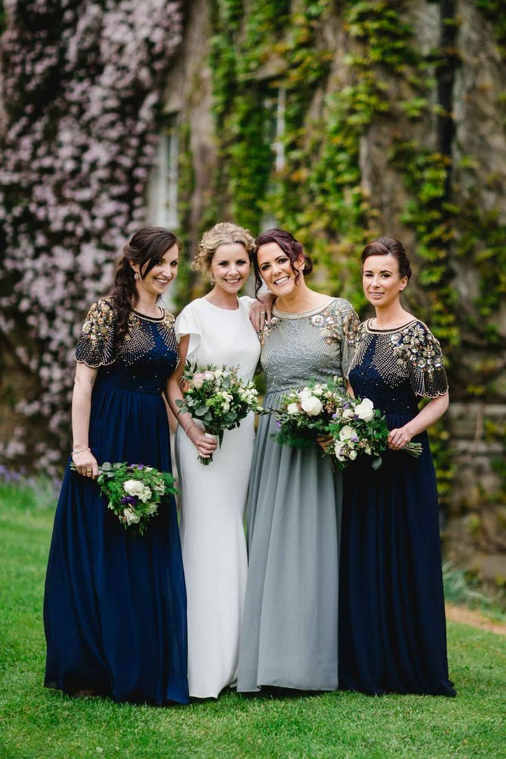 Virgos Lounge bridesmaid dresses, Trudder Lodge Wedding