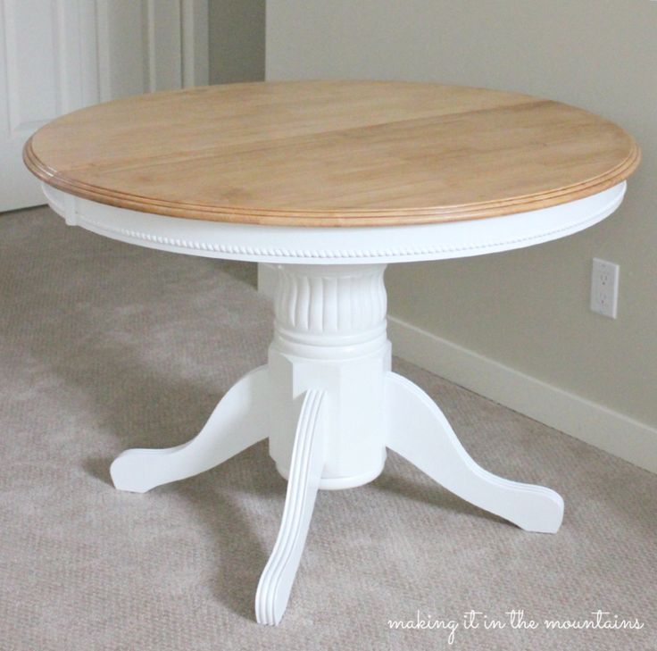 Light and Bright Kitchen Table Makeover   Guest Post100 best Dining Tables   Chairs   Chalk Paint Ideas images on  . Redo Old Kitchen Table. Home Design Ideas
