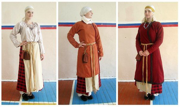 Medieval Slavic costume of Ancient Russia: could be for Muslim woman