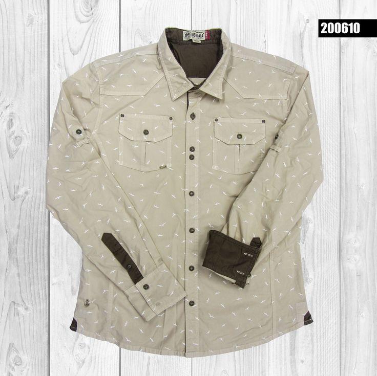 camisa-hombre-mini-prints-manga-larga-color-beige-200610
