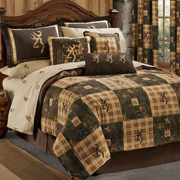 Browning Country 4 Pc Twin Comforter Bedding Set Dash Tack Quilted Lodge Cabin Rustic