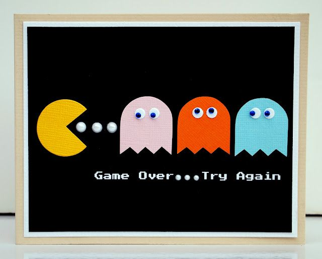 Pacman card// Ah! JAG would flip over this card! Pacman is one of his favs, after Angry Birds.