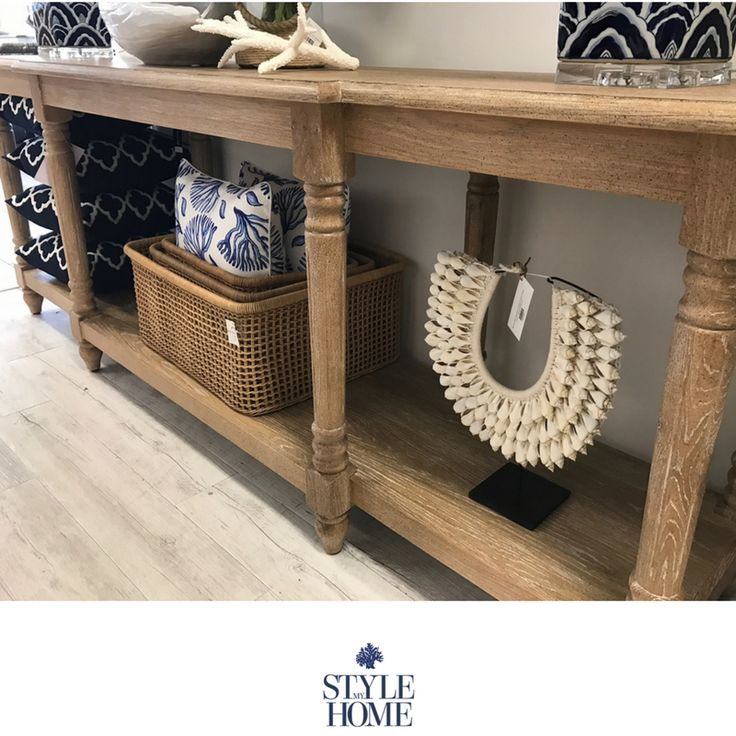 Our Louisa Solid Oak French Console is perfect for grand entryways.