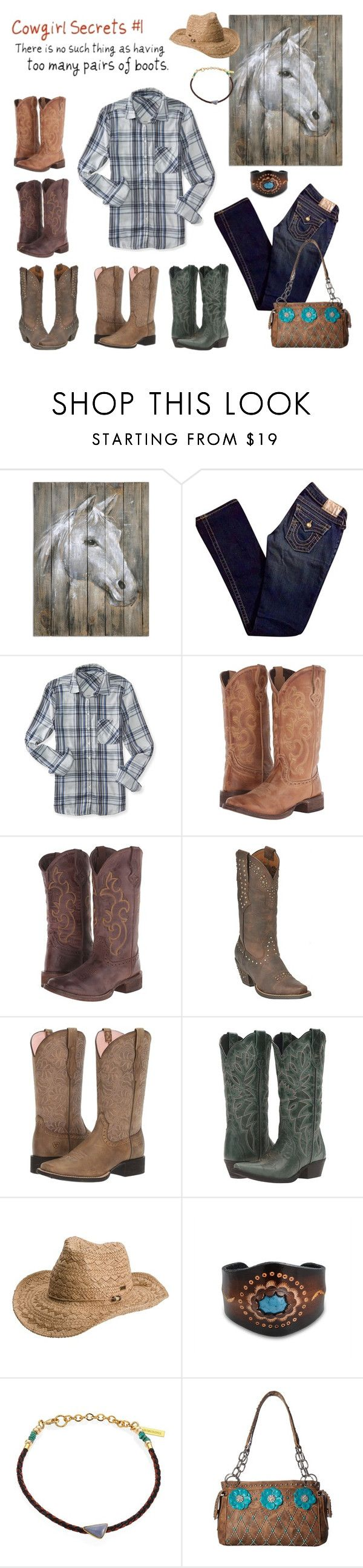 """Untitled #1296"" by shemomjojo ❤ liked on Polyvore featuring True Religion, Aéropostale, Roper, Ariat, Laredo, Roxy, Bling Jewelry, Lizzie Fortunato and M&F Western"