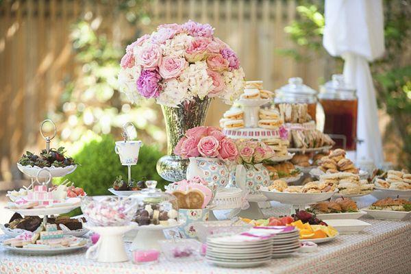 Southern tea bridal shower by the schultzes creative for Unique tea party ideas