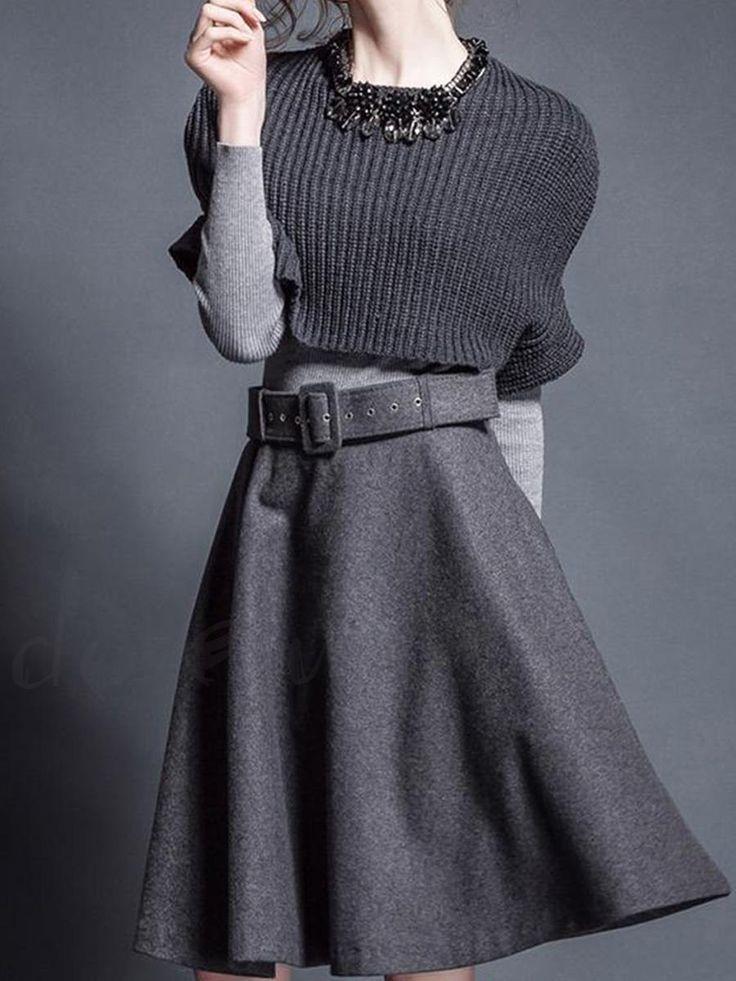 ファッション長袖デートワンピース 膝上丈ウェスト絞りニットワンピグレースリーピースは格安とか人気のものなどいろいろな種類があり、ここで。一番のサービスと最高品質の商品Doresuweで提供しています。