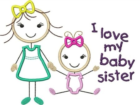 17 Best images about Sisters on Pinterest | Lil sis, Applique ...
