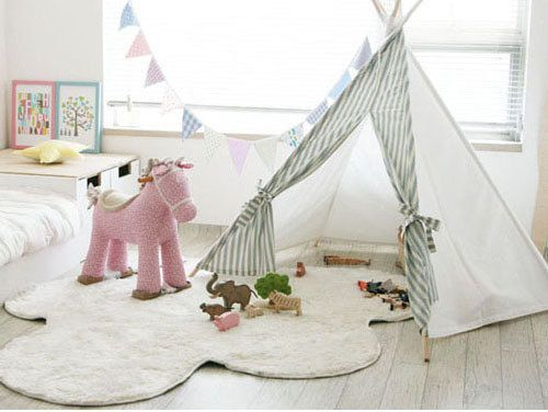 Stripe Indian Tent by Toriee( teepee play tent for baby, toddler and kids)