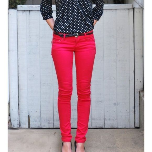 Hot Pink Skinny Jeans These hot pink skinnies are lightly used and in excellent condition; So brand from Kohls, juniors size 7. SO Jeans Skinny