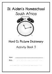 Hard C - Alphabet Picture Dictionary Workbooks/Activity Books, Freebies, download one or download all #Homeschool #education