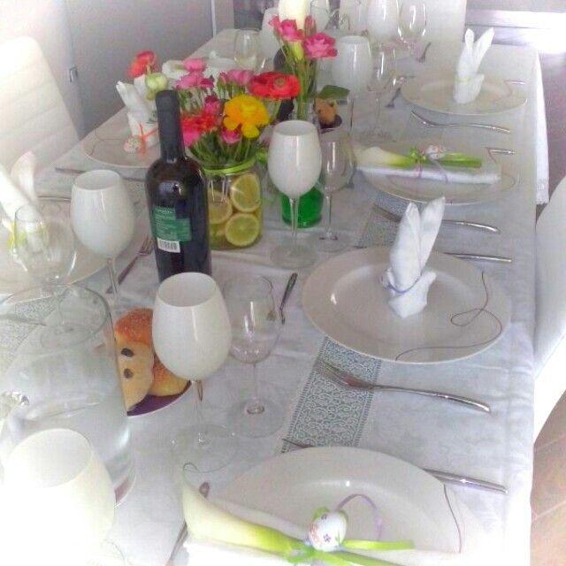 Easter table saporiamoglamfood