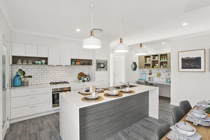 Kitchen. Grey & White.