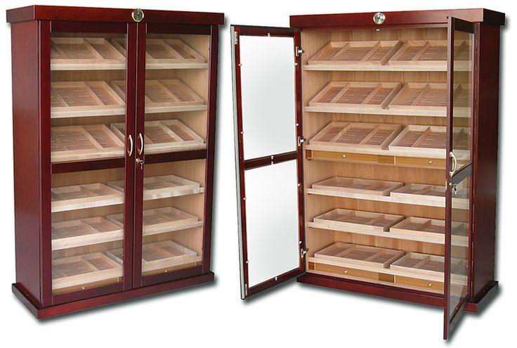 Large cigar display cabinet; the Bateman