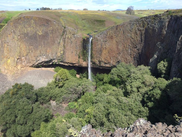 Hiked through fields of wildflowers and volcanic rock to Phantom Falls near Oroville CA [OC] [22851714] #reddit