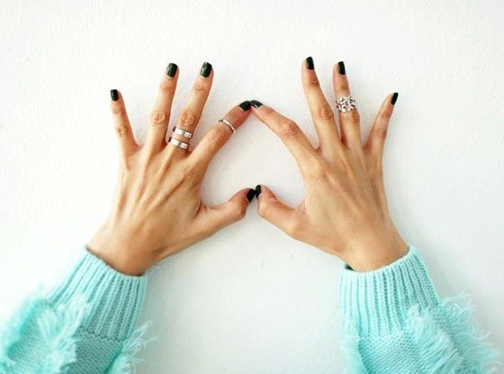 Silver Fashion 3-in-1 Leaves Alloy Double Ring