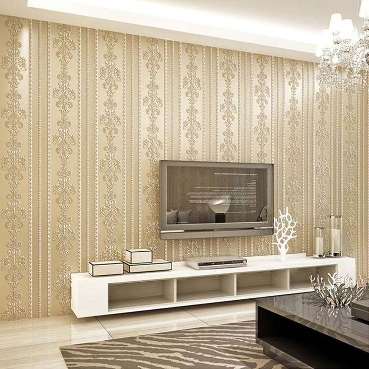 23.80$  Watch here - http://aligtp.shopchina.info/go.php?t=32807427248 - European Style 3D Embossed Non-woven Damask Wallpaper For Bedroom Walls Roll Living Room Sofa TV Background Stripe Wall Paper  #buyininternet