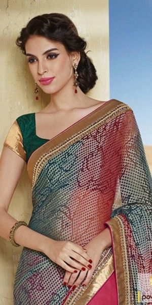 golden saree latest party wear - Google Search