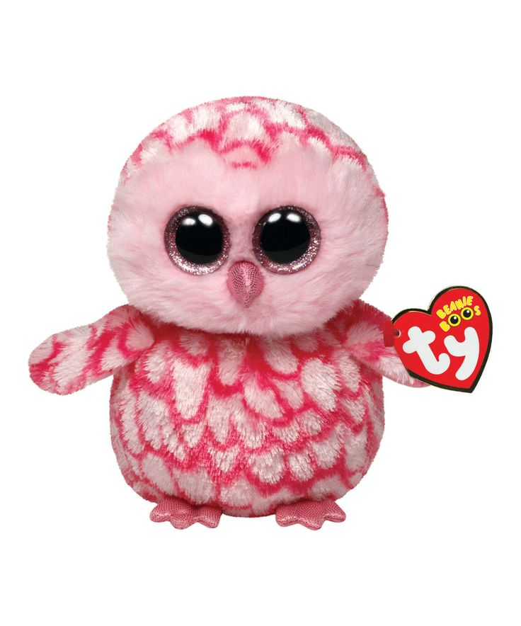 Look at this #zulilyfind! Pinky the Barn Owl Large Beanie Boo by Beanie Boos #zulilyfinds