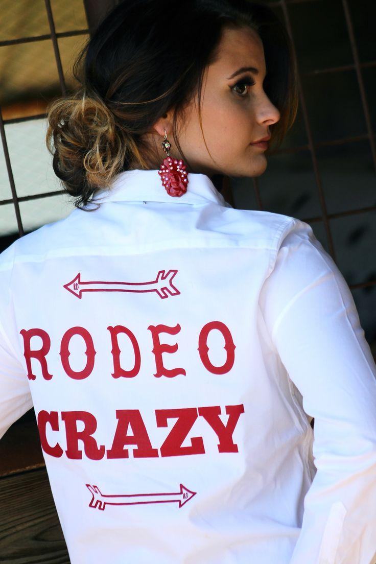 White Rodeo Crazy Rodeo Shirt - Ranch Dress'n