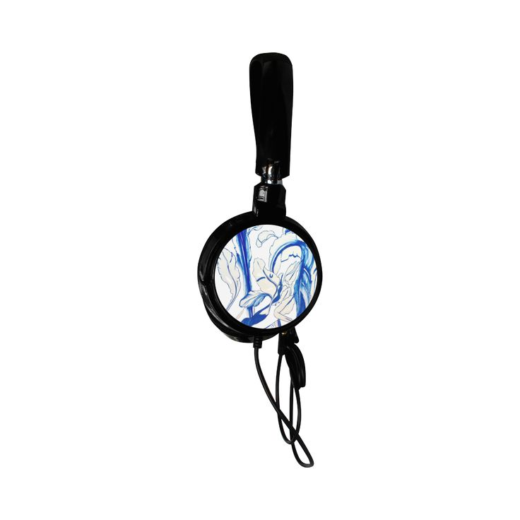 Blue Succulent White Custom Earphone Use code ARTSADD for 30% off and free shipping