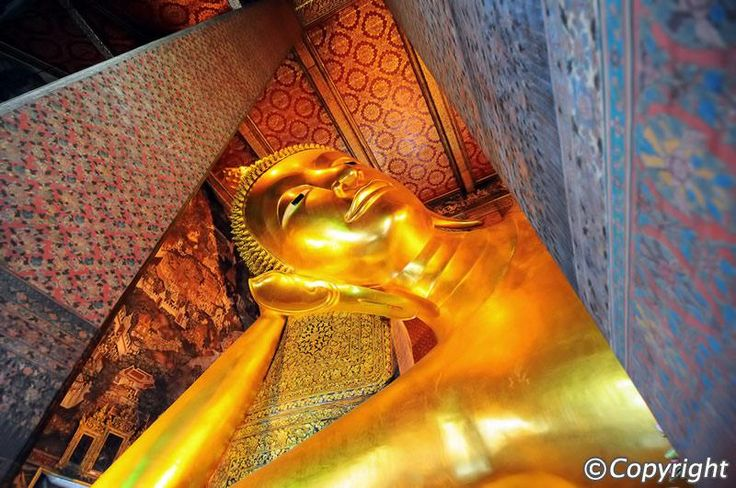 Wat Pho (the Temple of the Reclining Buddha), or Wat Phra Chetuphon, is located behind the Temple of the Emerald Buddha and a must-do for any first-time visitor in Bangkok. It's one of the largest temple complexes in the city and famed for its giant reclining Buddha that