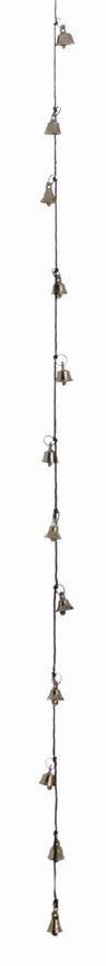 """Amazing Chime with Twelve Chrome Plated Brass Bells about 1"""" High on 30"""" String"""