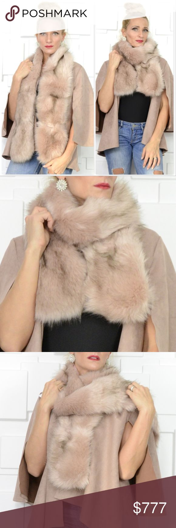 BLUSH PINK FAUX FUR SCARF BRAND NEW  BOUTIQUE ITEM   Check out this stunning BLUSH PINK with hints of black on tips faux fur scarf!! It is out of this world!! Luxurious and soft faux fur, you will LOVE this piece! Make this the perfect gift for you or someone you love!   100% polyester Lined on back side. Can be worn many ways.  Also have a hook closure if you would like to hook it closed   *Christmas gift present holiday scarf scarves brand new high end anniversary vacation MODA ME COUTURE…