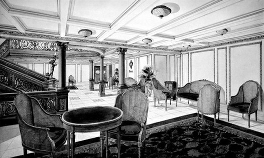 Titanic first class reception room titanic Who was on the titanic in first class