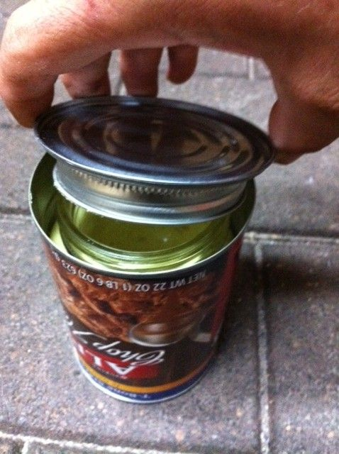 Hide Valuables in a Homemade Diversion Can Safe (mason jar in a can)