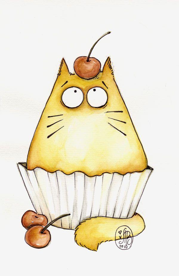 Cup-cat by Maria-van-Bruggen.deviantart.com on @deviantART