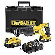 Dewalt DCS380M2 Cordless XR Reciprocating Saw 18 Volt 4.0Ah