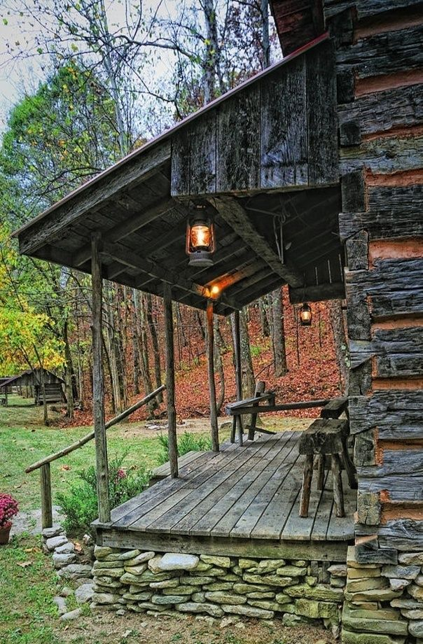 cabin porch cabins pinterest cabin cabin porches