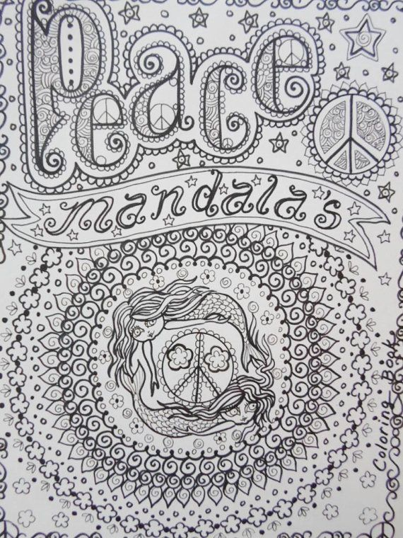 peace mandalas coloring book you color and by chubbymermaid 1200 - Peace Sign Mandala Coloring Pages