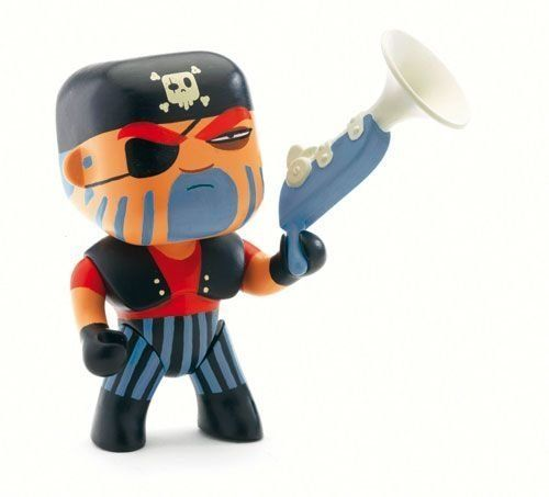 Amazon.com: Arty Toys / Jack Skull Poseable Pirate Figurine by Djeco: Toys & Games