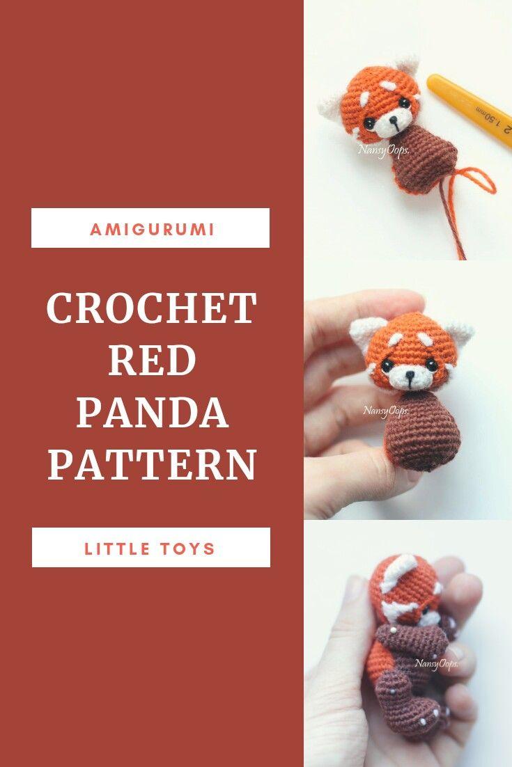 FREE PATTERN Amigurumi Red Panda | 1102x735