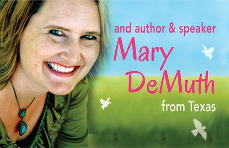 Speaker Mary DeMuth from Texas. Read more about her at https://www.beautyforashes.co.za/2013-conference