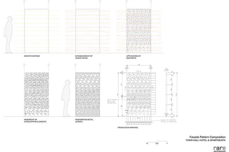 The aluminum screen's design was drafted in custom plugin for Rhino. (courtesy Rare Architecture)