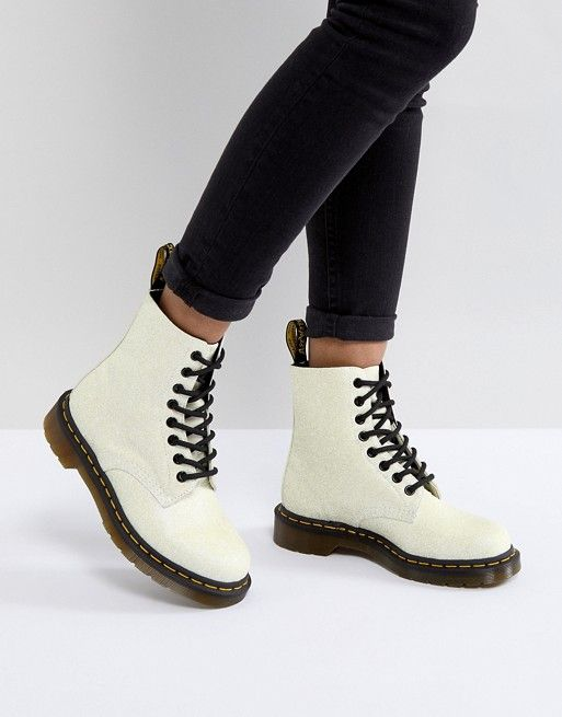 b96aca2e29a Dr Martens Pascal Boot in White Glitter in 2019 | Shoes | Dr martens ...