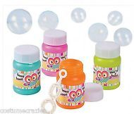 YOU'RE A HOOT OWL PARTY ~ Mini Owl Bottle of Bubbles - Pack of 6