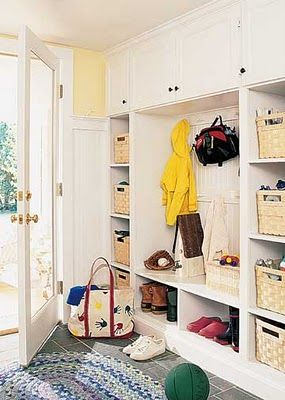 Mudroom - for when we move washer/dryer to basement.