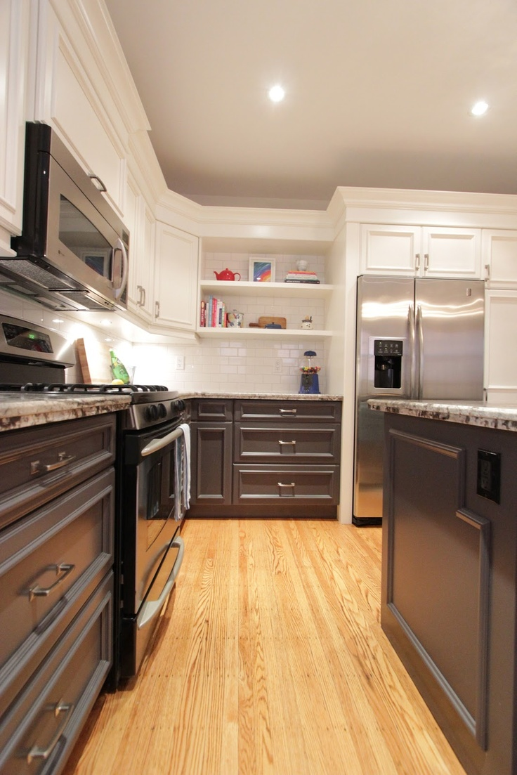 17 Best images about white upper dark lower cabinets on ...