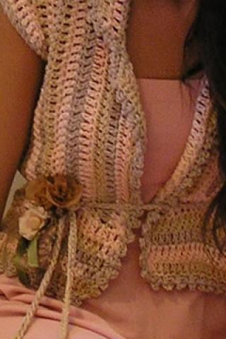 María Cielo: Saco al crochet de Paula y Agustina Ricci