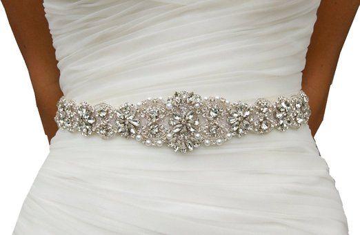 Wedding Dress Sash, Rhinestone Bridal Belts, Bridal Belts And Sashe