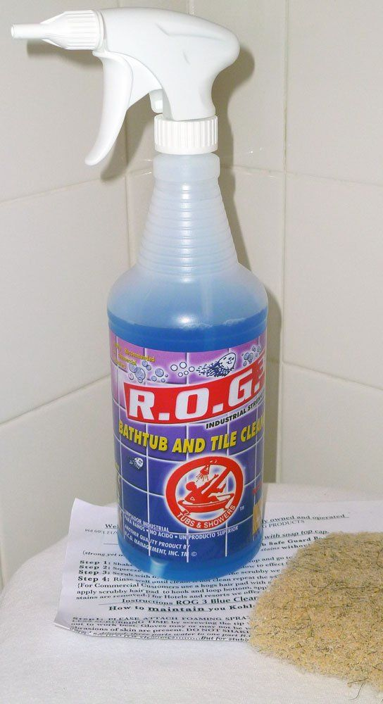 Amazon.com: Bathtub Cleaner Express ROG 3 Tub And Shower Cleaning Solution  Refill: