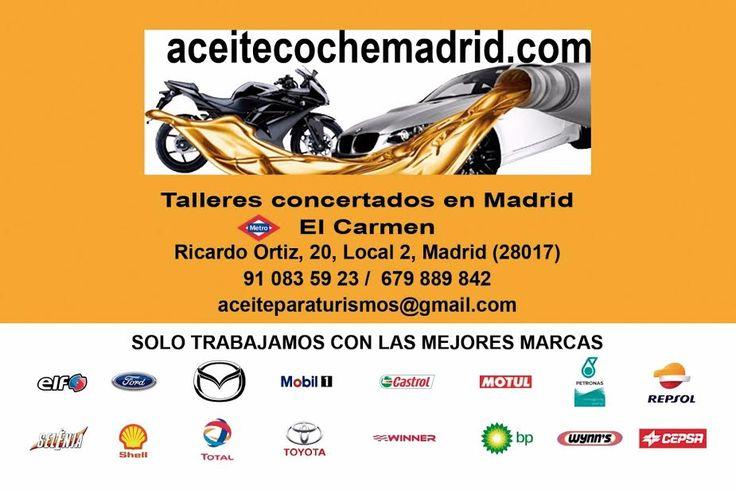 aceitecochemadrid.com abre sus puertas este puente de la Almudena de 10:00 a 14:00 h. Para que a tu vehiculo no le falte de nada  Domingos y festivos pide cita y te atendemos en tienda durante estas fiestas, para que a tu coche, moto, etc... no le falte de nada. (tlf cita movil). llamanos al 91 083 59 23 / 679 889 842, o acercate a nuestra tienda en Madrid Ricardo Ortiz nº 20 (frente al club Los Cedros).