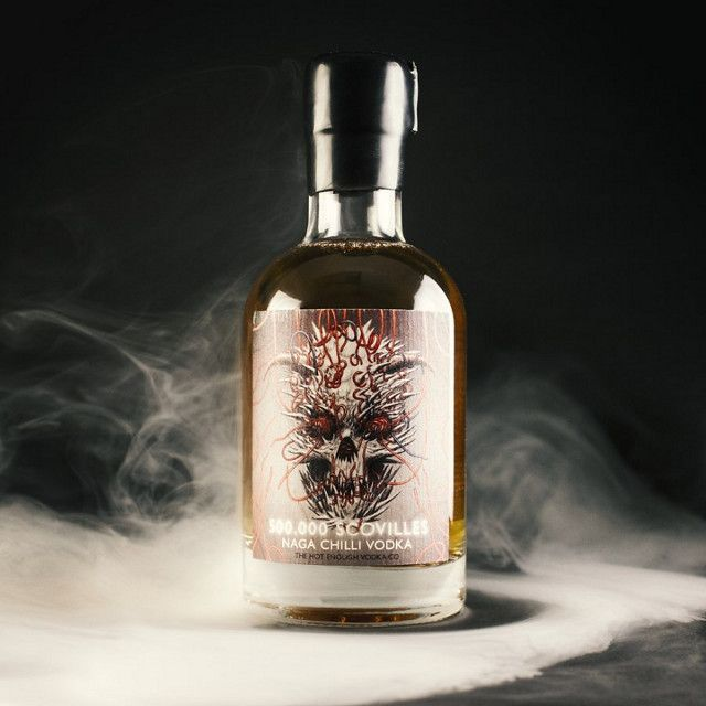 With a Scoville rating of 500,000 this Naga Chilli Vodka is the hottest vodka in the world, it's like drinking molten lava!