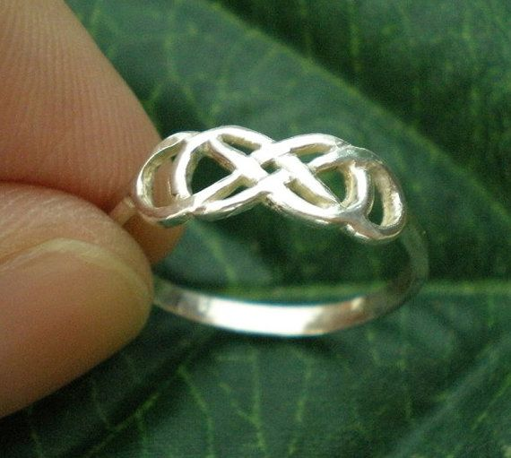Silver Double Infinity Ring  Revenge  Infinity times by yhtanaff, $32.00 #doubleinfinity #forever #christmas