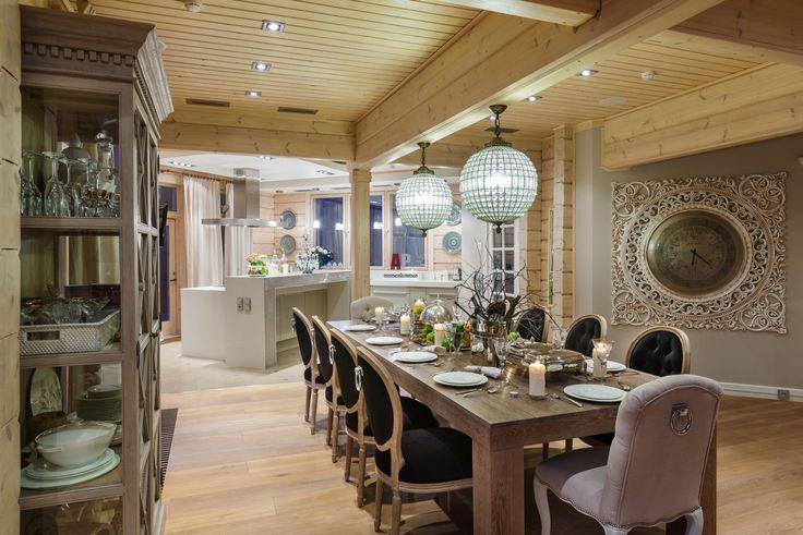 Фото интерьера столовой дома в современном стиле