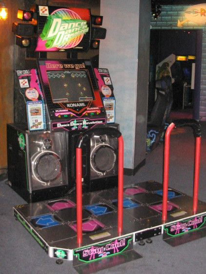 Dance Dance Revolution in an Arcade